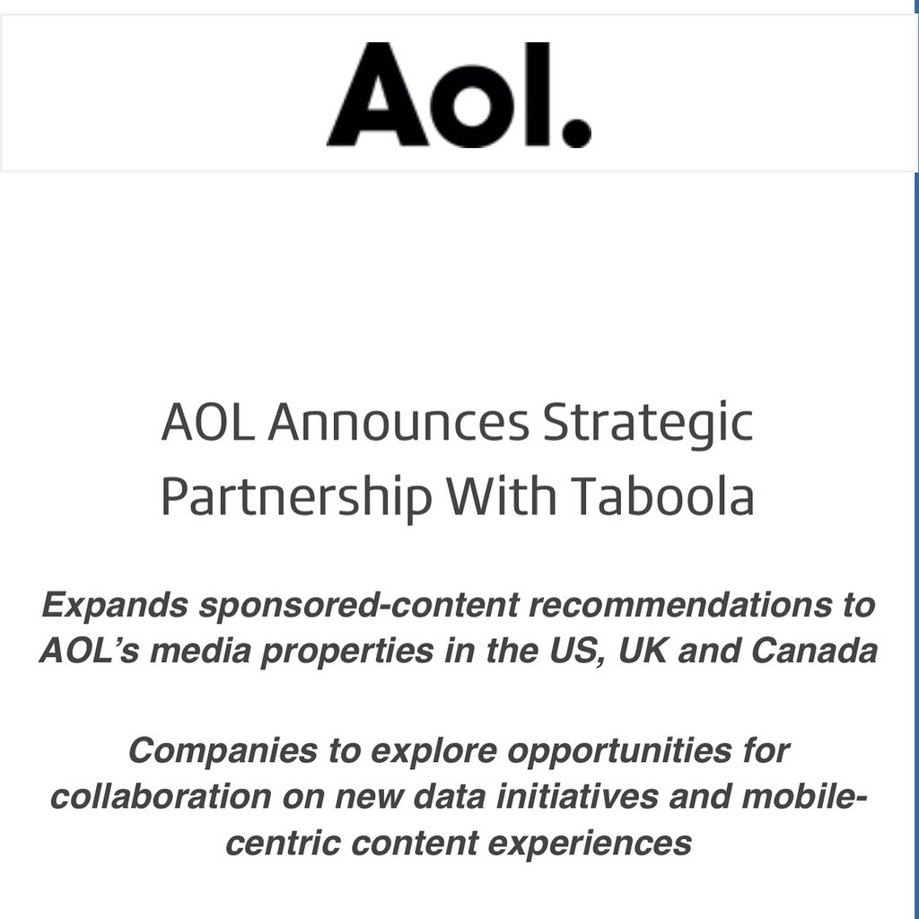 What a day... @AOL and @Taboola cc @maymann https://t.co/DTmGVAgmHE
