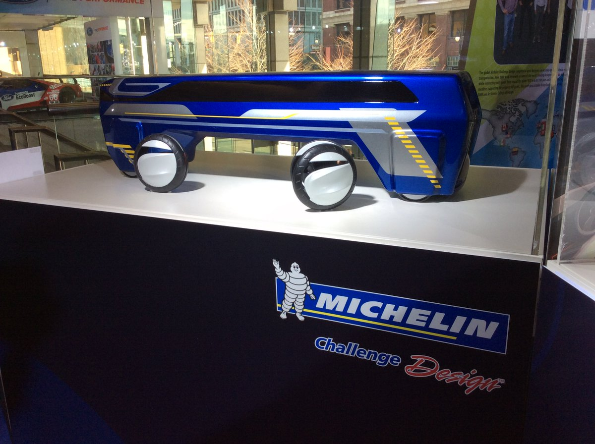 If you're at #NAIAS be sure to check out the Michelin Challenge Design exhibit in the concourse of @cobocenter https://t.co/JqdkVCBYTQ