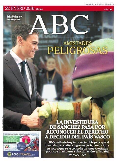 Que ABC sugiera que Donatello es la tortuga ninja de Podemos por llevar el antifaz morado ES MÁS GRANDE QUE LA VIDA https://t.co/qhq7pzEAjM
