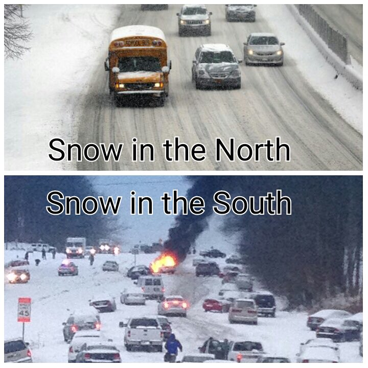 Lol, this image is pretty accurate, silly southerners... #blizzard2016 https://t.co/NJhMhxdPAt