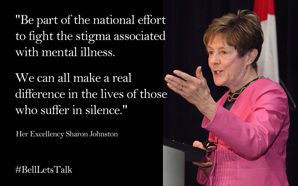 """Let's enable people to share their struggles with #MentalHealth."" - SJ #BellLetsTalk https://t.co/gscbmywJbO"