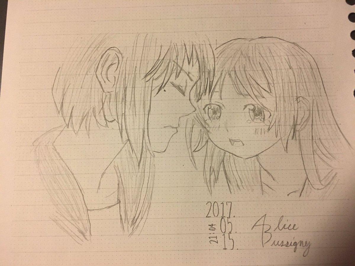 #びゅしにぃのイラスト修行日記 Day 16:「いなり、こんこん、恋いろは。」いなり&京子制作時間:約45分コメ
