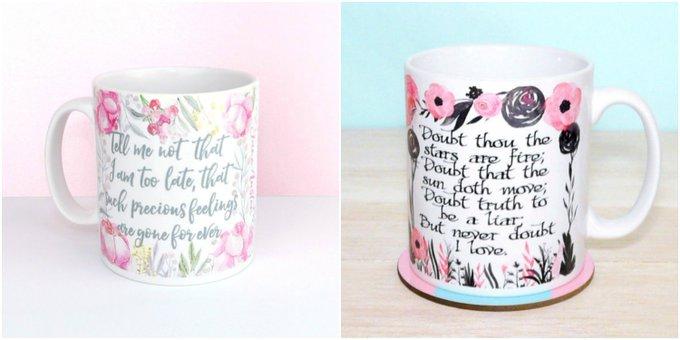 Jane Austen & William Shakespeare Quote Mugs Giveaway