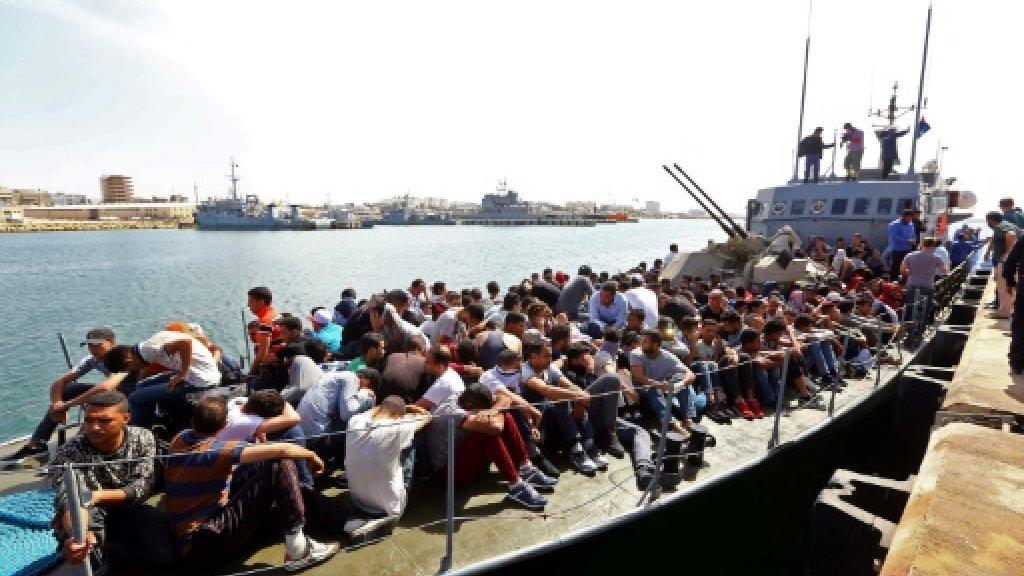 Libya intercepts 350 migrants after duel at sea