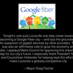 Thanks Metro Council for strong votes on gigabit fiber @googlefiber This is about creating jobs/growing our economy https://t.co/UdRonjPXFy