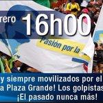 ¡Todos a la Plaza Grande! Al pie del cañon junto al pueblo como debe ser. @MashiRafael @JorgeGlas #NadieTocaMiRC https://t.co/EeFYNPGmtQ