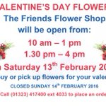 Friends Florist for VALENTINES FLOWERS - convenient location in main foyer of Eastbourne DGH. 30min FREE PARKING! https://t.co/rRZFfe69B9