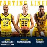 YOUR starting 5 at Minnesota: @DerrickWalton10; @theprophet_5; @D_Bo20 @zirvin21 and @markdonnal #GoBlue https://t.co/7W8kwHCRXx