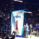 Chauncey Billups and his family raising No. 1 to The Palace rafters https://t.co/6ID60Vto4h