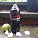 An apple and a 1.25LT bottle for reference. #wamboin #canberra #australia #hail #canberrastorm #canberraweather https://t.co/b8qNcHzRHn