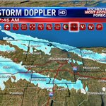 Two bands of lake snow this morning: 104 corridor and Thruway. Not great for travel this morning. #ROC @News_8 https://t.co/9WJ1vYC07d