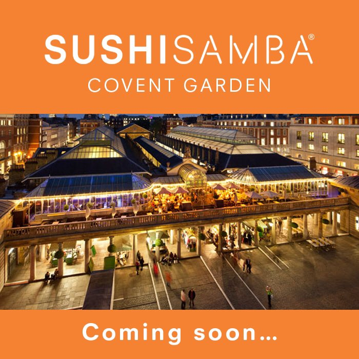 Excited to announce that @SUSHISAMBA is opening in Covent Garden's famed Opera Terrace in early 2017 #coventgarden https://t.co/zNZwYq9bVa