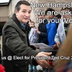 MT @cindiperez48: Now On To New Hampshire For The Next Win! TED CRUZ For President! #NHPrimary https://t.co/wn2m1mO0hE #CruzCrew #PJNET
