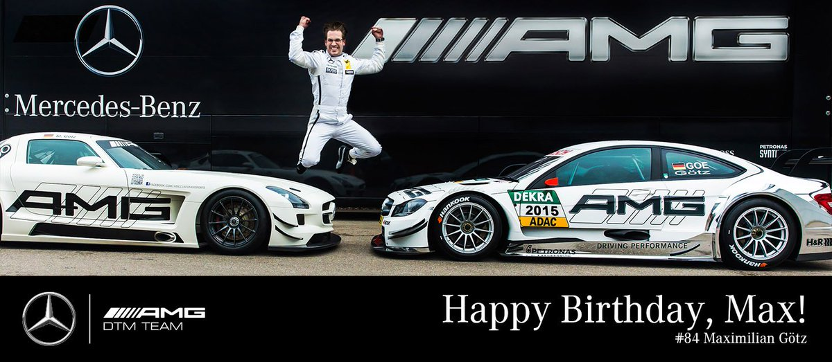 RT @MercedesAMGDTM: #MAXimumAttack, it's party time! Happy 30th #birthday, dear @Max_Goetz! 🎂🎁🎉 #DTM #JumpAround https://t.co/t4JQ3YGx9R