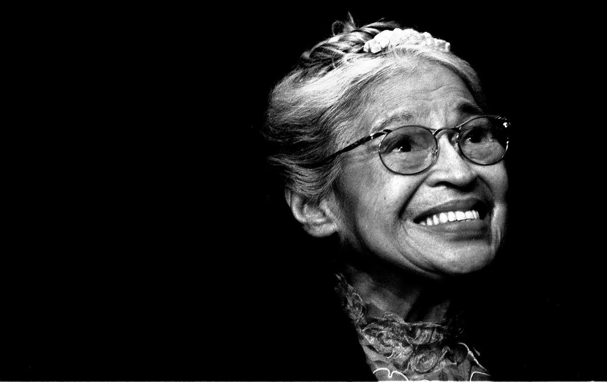 """""""I had no idea that history was being made. I was just tired of giving up."""" Happy Birthday #RosaParks https://t.co/wD3sTsJYYr"""