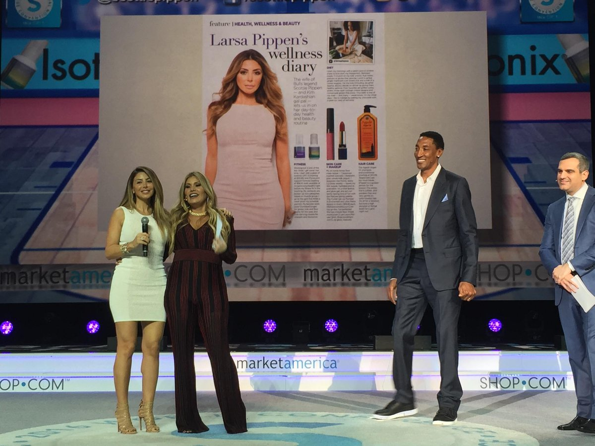 Wellness must run in the family- @larsapippen and @ScottiePippen love @isotonix #MAWC2016 https://t.co/P2fZAk8NyQ