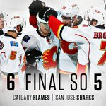 WHAT A GAME! The #Flames take this one 6-5 in a shootout ~ https://t.co/k7wWLNMGS9 #CGYvsSJS https://t.co/C8vDkWgqgp