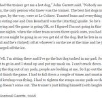 This is probably my favourite goalie story. Involves John Garrett and Colisee hot dogs and awkwardness. #Nordiques https://t.co/KNVoJeJeMX