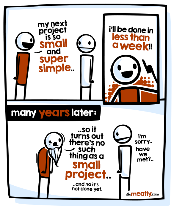So simple, yet I know every dev relates! https://t.co/zIKrmnMpi7 - great comic by @themeatly
