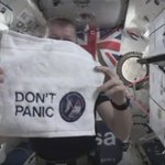 Hitchhikers Guide to the Galaxy Reference on the ISS, he knows where his towel is. https://t.co/BLJ3pbpJwZ https://t.co/PYbKaP9ZFe