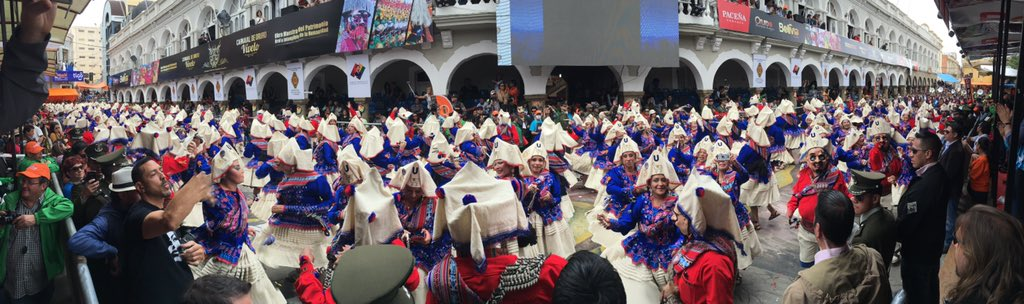 Never seen anything quite like Ororu carnival.  Every group and dance is part of Bolivia's history https://t.co/2IslAhBBEG