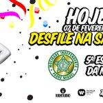 Finalmente chegou o dia do nosso desfile... hoje vou ter a honra de representar a Mocidade na Sapucaí! https://t.co/FNsWAjxZqg