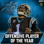 Cam Newton has been named the Offensive Player of the Year. https://t.co/E5Vr4NyozS https://t.co/E6EJFyThqX