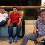 En el lobby del Oro Verde: @jacomesantiago, Patricio Torres (directivos @LDU_Oficial) y Jhonny León, jugador en 1997 https://t.co/aPLfQFOHjf
