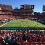 My view for the game. Ill tell you this, it is windy out here. Goal posts shaking. #ASJax #SB50 https://t.co/ics6wI6H1X