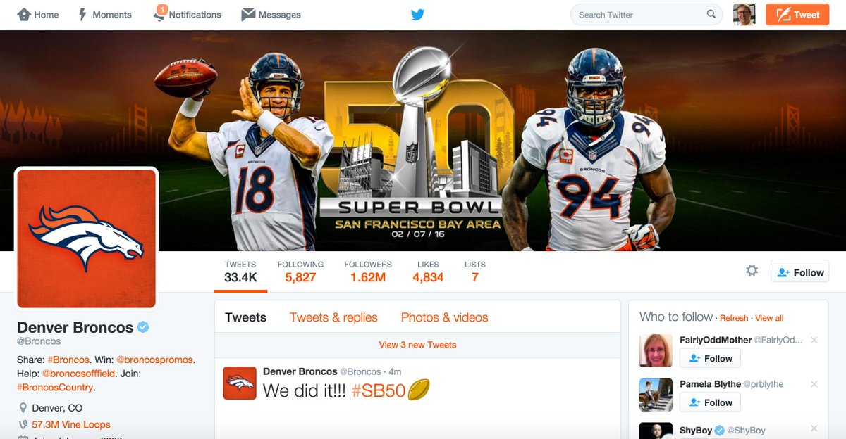 Yup, I'm very busy reading @Broncos tweets. #EsuranceSweepstakes #SB50 https://t.co/2lFopnqbr8