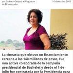 Despierta Chile!!!! Así se pagan favores cineasta q hará documental de Bachelet trabajo activamente en su campaña... https://t.co/WWXYf9Zywn