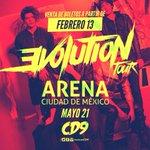 ¡PREPÁRENSE! LLEGA #EVOLUTIONTOUR DE @somosCD9 este próximo 21/05 EN LA @ArenaCdMexico ???????????????? https://t.co/RPzlLwtH7f