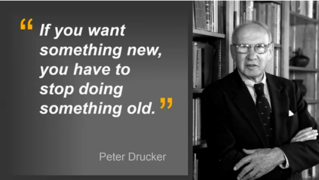 """If you want something new you have to stop doing something old"" is excellent #HR2016 https://t.co/esulUc36EG"