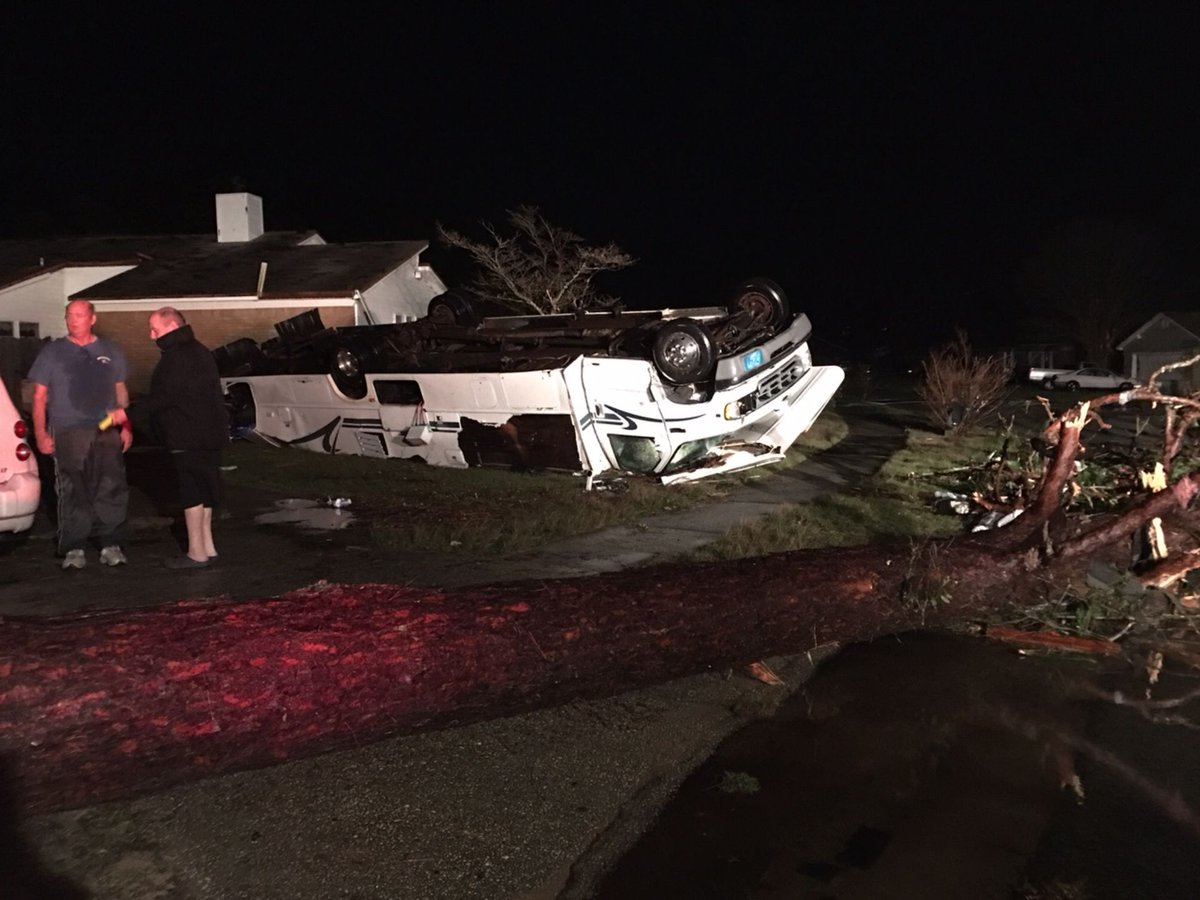 Check out this photo from @pnj/@tgibersonpnj. RV flipped upside down in Pensacola tornado. https://t.co/jGNRxDPWIY https://t.co/643IQ0wVip