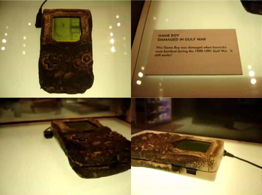 今のゲーム機は親に簡単に壊されるけど、湾岸戦争で米軍に爆撃食らって、すさまじい高熱と衝撃に晒され、誰がどう見ても完全にぶっ壊れてるのに、電源入れたら普通に動いて、今も任天堂直営ショップでテトリスのデモ流してる、ゲームボーイは神の機械 https://t.co/wsIAc4fQgk