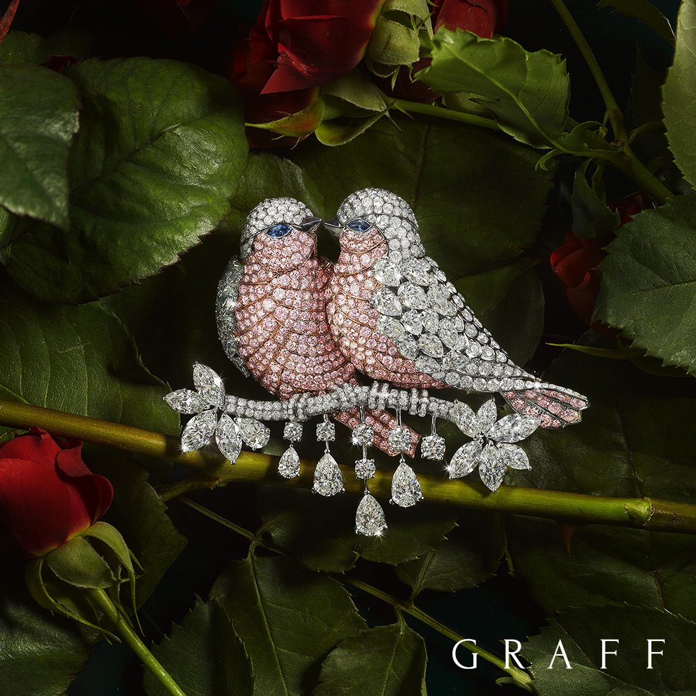 Flight of Fancy - A statement brooch, the perfect gift for the one you love. #GraffDiamonds #ValentinesDay https://t.co/lW3TB7OUqA