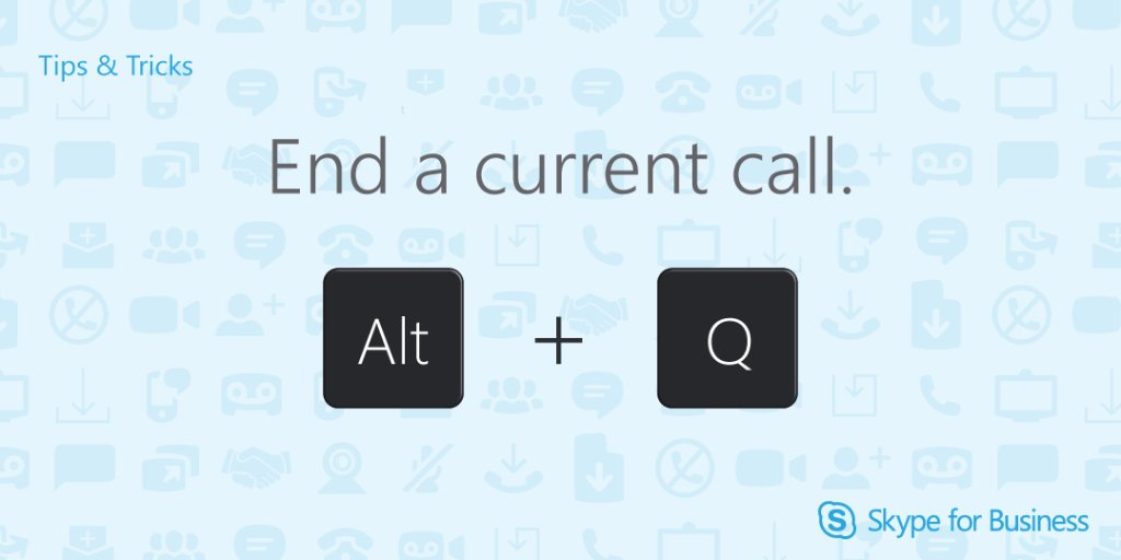Once you've said your goodbyes, hit Alt + Q to hang up your #Skype4B call. https://t.co/OTfr0qzjJG