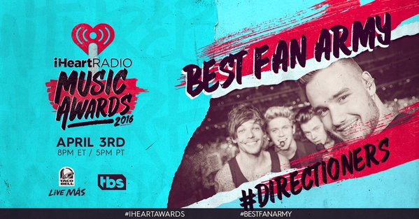 The #Directioners are on FIRE! RT TO VOTE #BestFanArmy at the #iHeartAwards @WW1DUpdates https://t.co/PS89eZTEOS
