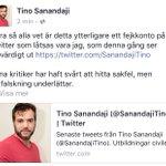 Rapportera och blocka fejkkontot: @SanandajiTino RT sedan! #svpol https://t.co/qxOGI0iw1g