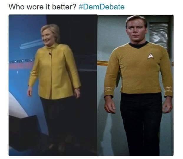 Hilarious -  #HillaryClinton #StarTrek https://t.co/B4HLAmapJb