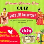 Parents Worship Day Quiz Part 2! A sequel bigger, better, more fun and its TOMORROW! Spread the word! #Contest https://t.co/hT6SchI42C