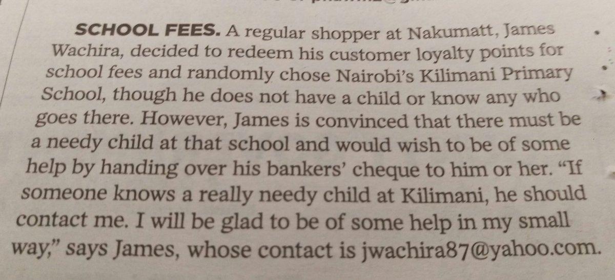 What a selfless gesture from this @Nakumatt smart shopper. God bless him. https://t.co/dgF7yqBxC6