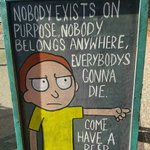 Nobody exists on purpose.   Nobody belongs anywhere.   Everyones gonna die.   Come and have a beer. https://t.co/JaWK4PWkgn