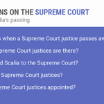 """Top Google question about the Supreme Court this evening: """"What happens when a Supreme Court justice passes away?"""" https://t.co/31fFBDSNbI"""