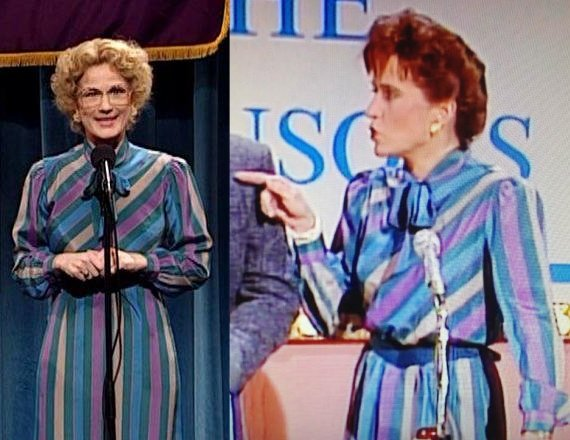 Spotted Bobbi Culp's (@AnaGasteyer ) dress worn by Jan Hooks on the @nbcsnl rerun from 1988! https://t.co/TTmKLbd8sa
