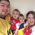 By Arsenal: RT MarcusPowell87: Arsenal In front of the telly with my lady and kids! #COYG https://t.co/nDr7mO0mVM https://t.co/tHvuskf3Zv