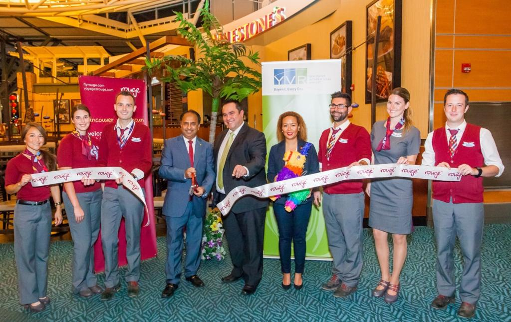 Nous avons célébré le lancement d'un service saisonnier @yvrairport—Cancun aujourd'hui!
