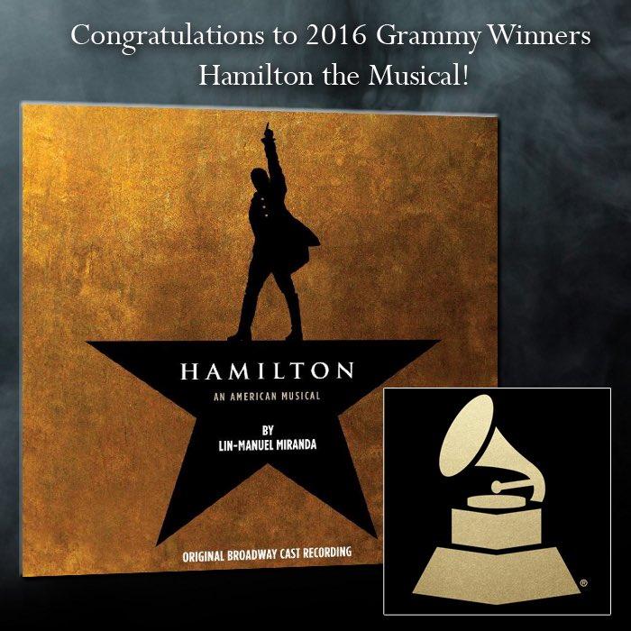 Congratulations @HamiltonMusical!! https://t.co/WorOiFZMmO