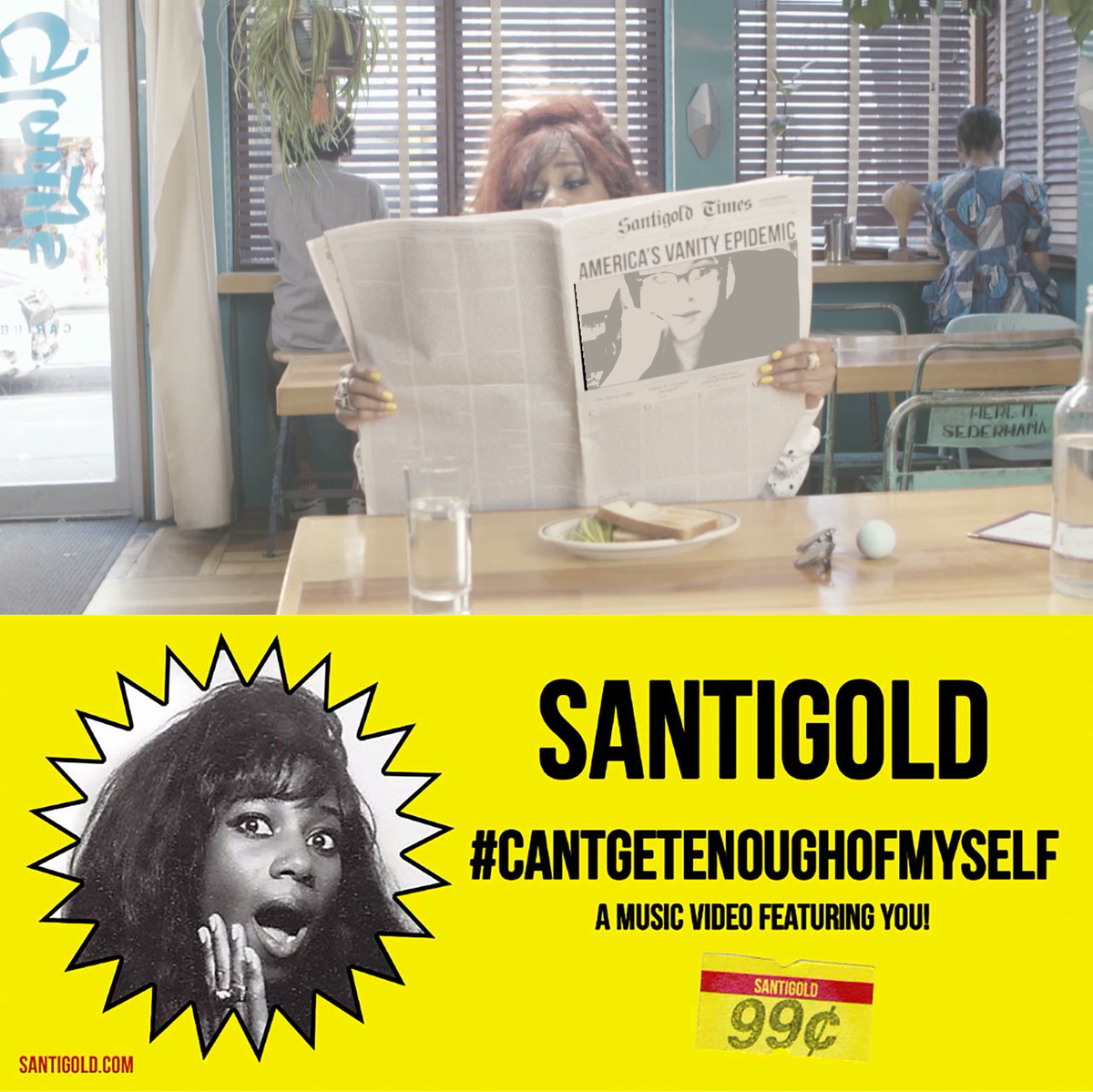 .@Santigold changing the game with this interactive webcam video. #CantGetEnoughOfMyself https://t.co/leVKJOq9n9