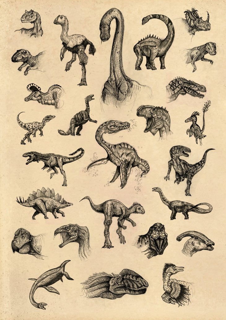 RT @hitRECord: Dinosaurs, anyone? -- https://t.co/Lma8q0fXIK. Awesome job on these sketches, Kyoot! https://t.co/vkVKuNRr21